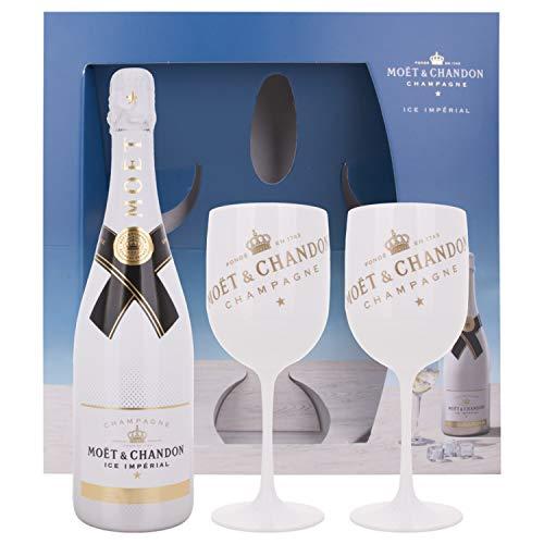 Moët & Chandon Champagne ICE IMPÉRIAL Demi-Sec + GB mit 2 Gläsern 12,00{90aab9ae502d282f2fa99914784afad244c387255c355776869444af33d22dfc} 0.75 l.