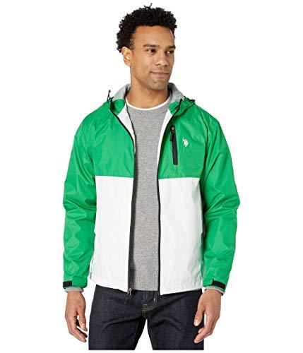 U.S. Polo Assn. Hooded Color-Block Windbreaker Court Green XL
