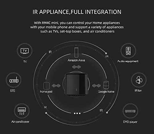 bestcon Broadlink RM4c mini Smart Home Hub RM4C Telecomando universale WiFi intelligente IR (a infrarossi), a infrarossi unico per tutti