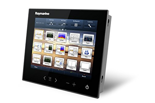 Raymarine E70213-DDB GS-Serie GS195 Glas Bridge Multifunktionsdisplay-Paket (48,3 cm (19 Zoll), Sichtwinkel aus 6 Uhr, 2X Displays, GPS, STNG Starter Kit)