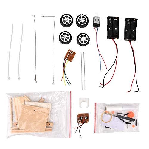 RC Car Model Kit, DIY Holz ferngesteuertes Auto Model Toy Kit Kinder Pädagogisches Auto Bau Spielzeug Set für Jungen und Mädchen Jugendliche und Erwachsene (Batterie nicht im Lieferumfang enthalten)