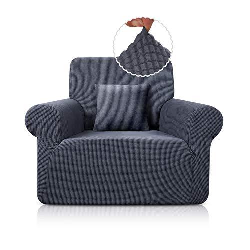 TAOCOCO Sofa Überwürfe Sofabezug Jacquard Elastische Stretch Spandex Couchbezug Sofahusse Sofa Abdeckung in Verschiedene Größe und Farbe (Grau, 1-sitzer(78-116cm))