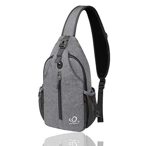 WATERFLY Sling Bag Herren und Damen Crossbody Sling Rucksack Brusttasche Outdoor Freizeit Sport Schultertaschen