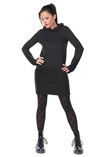 3Elfen Hoodie Kleid Damen Winter Kapuzenkleid Frauen Baumwolle Sweatshirtkleid Daumenloch Gothic...