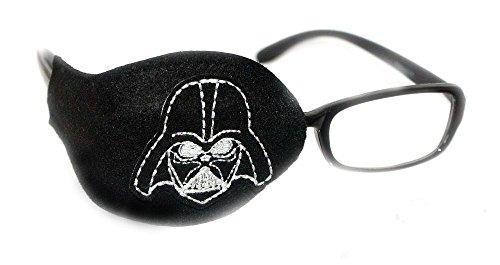 Orthopische Augenklappe für Kinder und Erwachsene, zur Therapie von Amblyopie, Star-Wars-Design, Schwarz