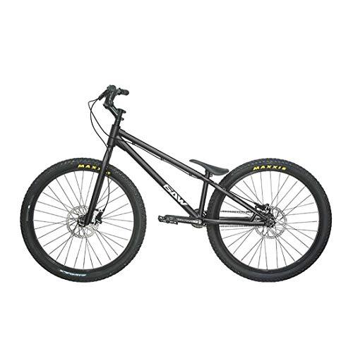 26 Zoll Adult Straße Trial Bike, Advanced Stunt Aktion geeignet Fancy Klettern Fahrrad für Anfänger-Level Fortgeschrittene Biketrial,Schwarz,Top
