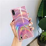 Herbests - Carcasa compatible con Samsung Galaxy A10 - Funda flexible de gel de silicona suave y fina - Carcasa de TPU - Protege a los arañazos - Color rosa
