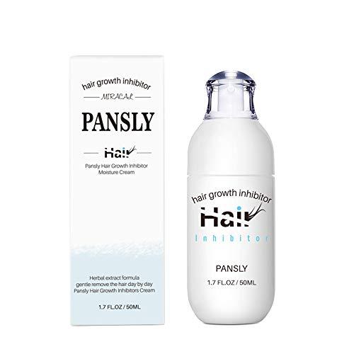 PANSLY 50ml Crema inhibidora del crecimiento del cabello Crema depilatoria corporal Crema hidratante Piernas Axila Parada del vello facial