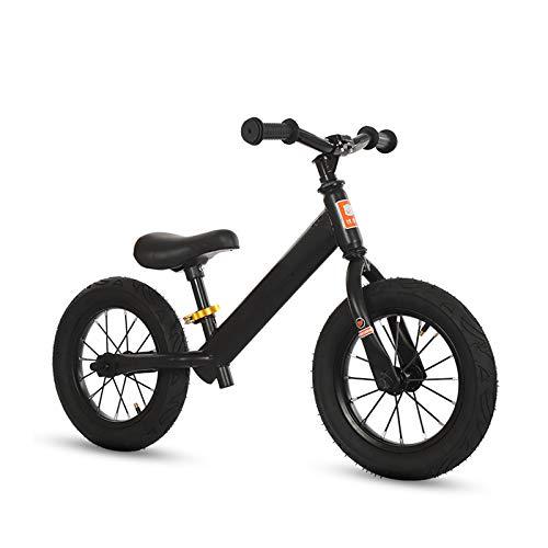 CJW-LC Bicicleta De Equilibrio, Bicicleta Sin Pedales Acero De Alto Carbono Balance Bike con Ruedas Inflables De 12 Pulgadas Asiento Regulables En Altura, para Niños De 2-6 Años,D