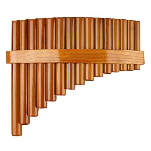 CHUJIAN Chinese Traditional Musikinstrument 15 Pipes Panflöte C Key-Qualitäts-Panflöte Holzblasinstrument Bambus Panflöte ( Color : Right )