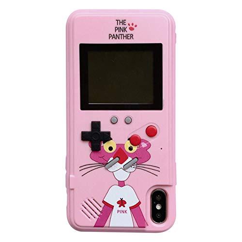 BQQ iPhone 7/8 Plus Hülle, Gameboy Handheld Game Player mit Retro Tetris Games System für iPhone 7/8 Plus (2 Teile),2