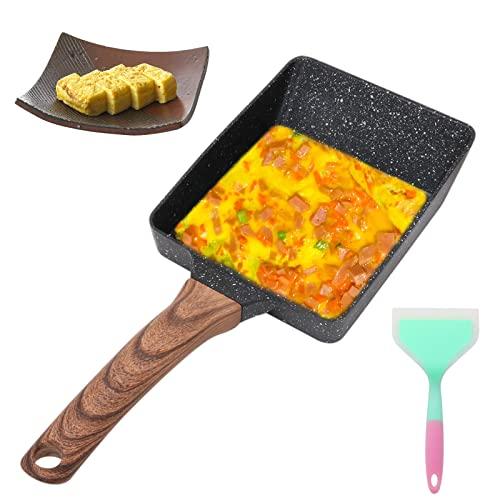 Sartén Tortilla Japonesa, Sartén Cuadrada Tamagoyaki Sartén Rectangular de Aluminio Antiadherente Para Estufas de Gas y Cocinas de Inducción