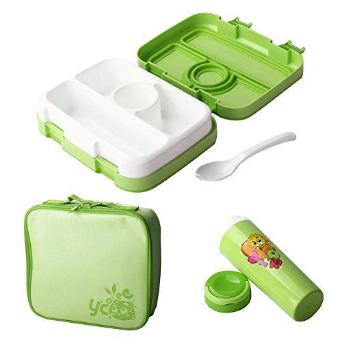 Ritapreaty Lunchbox für Kinder, langlebig, auslaufsicher, für Essen und Picknick, mit Set aus Tassen Eine
