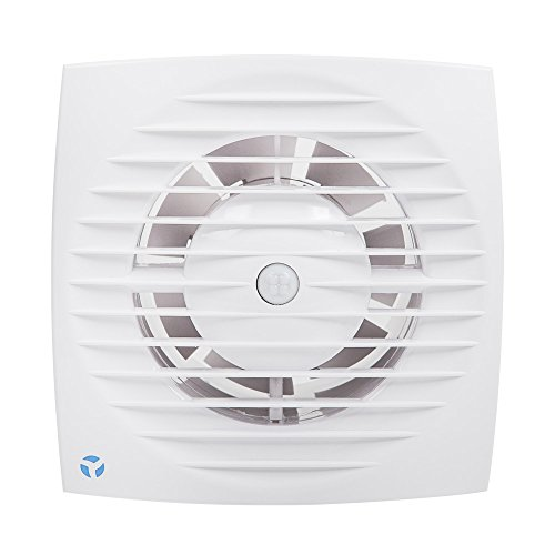 Flujo de aire ventilador Extractor de pared Aria 90000690, 6,3 W, 230 V, color blanco, 100 mm