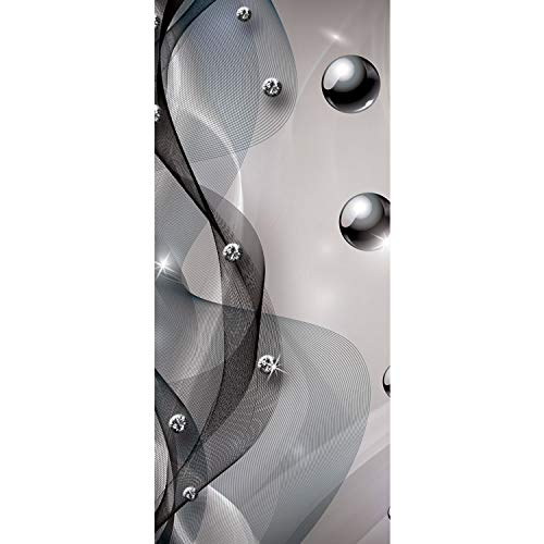 Tür Fototapete Türtapete 91x211 cm Türfolie selbstklebend o. Vlies PREMIUM PLUS - Tür Türposter Türpanel Foto Tapete Bild - Abstrakt Netz Perle Murmel Diamant - no. 798, Material:91x211cm Vlies