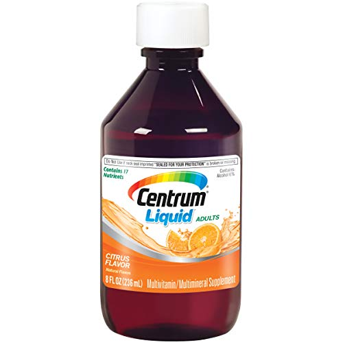 Centrum Liquid Multivitamin for Adults, Multivitamin/Multimineral Supplement with B Vitamins and Antioxidants, Citrus Flavor - 8 Fl Oz
