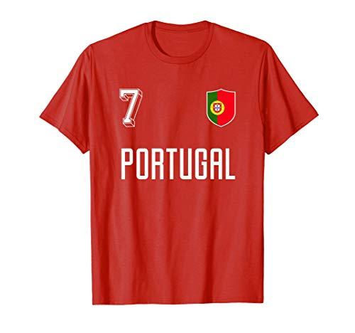 Retro Portugal Camiseta De Fútbol Portugués Número 7 Camiseta