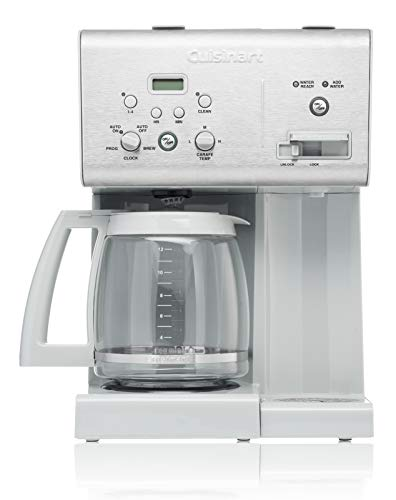 Cuisinart CHW-12CGR 12-Cup Programmable Coffeemaker Plus Hot Water System, Light Grey