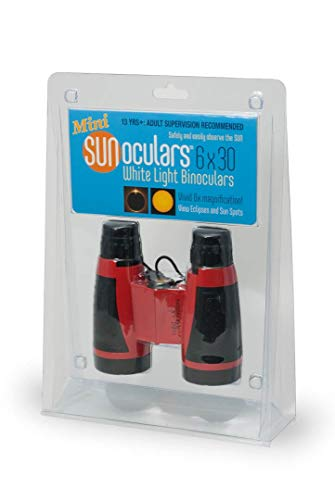 Sunoculars Mini (Red) with 6X The Magnification of Eclipse Glasses