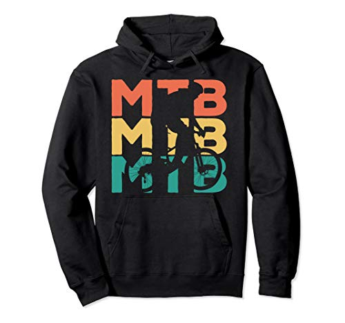 Retro Vintage MTB Geschenk für Mountainbiker Pullover Hoodie