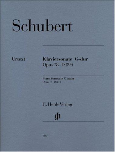 Sonate G-Dur Op 78 d 894. Klavier