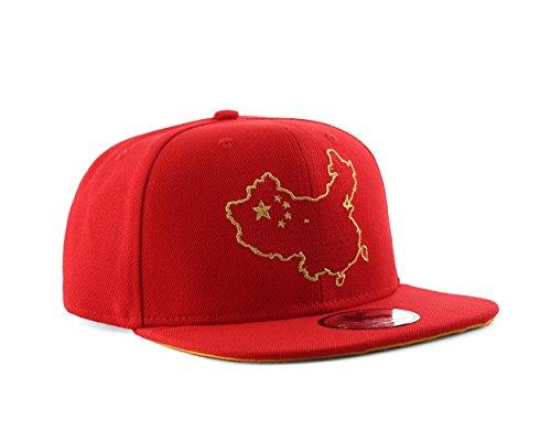 UNDERGROUND KULTURE Gorra de béisbol roja del Snapback de China