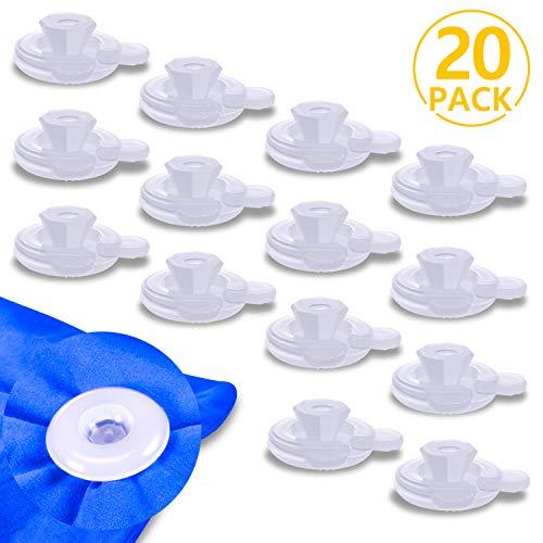 PAMIYO Clip de Edredón 20 Piezas Plásticos Transparente Sujeciones para Edredón Mantiene Las Edredón Previene el Desplazamiento