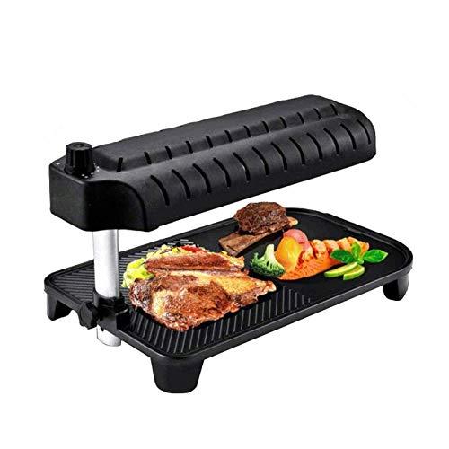 ERGGQAQ 3D elektrischer rauchloser Grill, Infrarot-BBQ-Elektrorgrill mit Infrarot-Technologie-Innengrill, präziser Temperaturregelung, Non-Stick BBQ-Grill für Zuhause