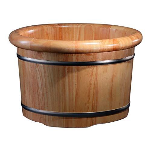 Voetbad, eiken voetenbad Barrel, glad en delicaat Pedicure Vaten Pedicure Bowl Spa Massage for het weken Voeten Massager Foot Tub