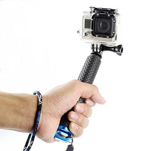 besty Action Camera Selfie Stick asta asta monopiede Maniglia Galleggiante in lega di alluminio per Sport Acquatici compatibile con GoPro Hero 5/4/3+/3/2/Session SJCAM Xiaoyi ecc. con 1/4filettatura standard internazionale Blu