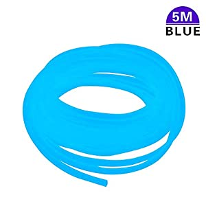 LucyStudio Aquarium Airline Tubing 5m Colorful Air Pump Rubber Hose Pipe Tube for Fish Tank Yellow Green Red Blue Black…
