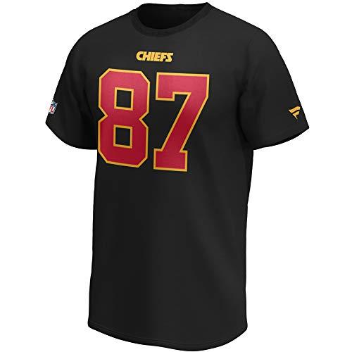 Fanatics NFL T-Shirt Kansas City Chiefs Travis Kelce #87 schwarz Iconic Name & Number Trikot Jersey (XL)