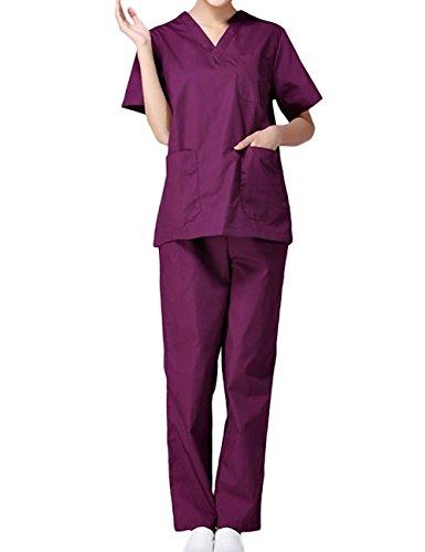 THEE Unisex Schlupfkasack Schlupfjacke+Schlupfhose Set Medizin Arzt Uniform Berufskleidung Krankenschwester Kasack Bekleidung