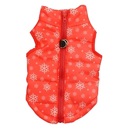 PONNMQ Vêtements de Chien d'hiver pour Les Chiens Manteau de Chien Chaud pour Les Petits Chiens Gilet Veste Animal Chiot Tenue Chihuahua Vêtements d'hiver, Rouge, S