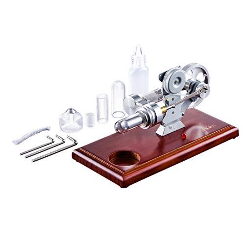 TETAKE Stirlingmotor - LED Lampe Heißluftmotor Stirlingmotor Bausatz mit Generator Groß Zylinder Stirling Engine Kit DIY Spielzeug für Kinder Schüler Lehrer