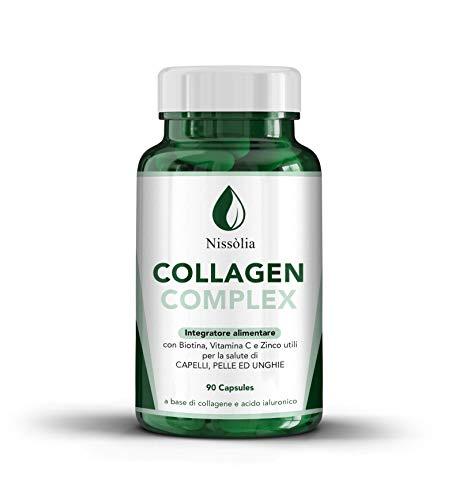 vitaminas para cabello, piel y uñas – a base de colágeno con biotina y ácido hialurónico – 90 comprimidos Titolo