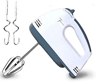 7-Speed Electric Hand Mixer Stainless Steel Whisk Mini Handheld Mixer Egg Cream Food Beater with 2pcs Beaters, 2pcs Dough ...