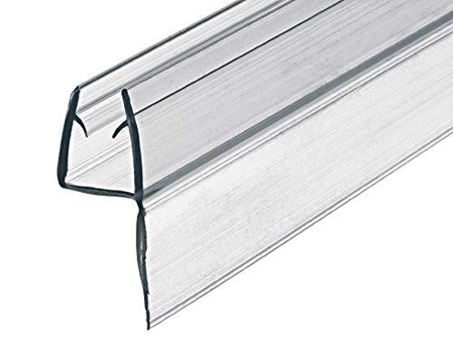 Gedotec Glastür-Dichtung Dusche Wand-Dichtung für Duschkabinen | Dusch-Türdichtung Länge 2000 mm | PVC Transparent | Duschdichtung für Glasdicke 8-10 mm | 1 Stück - 2 Meter Dichtlippe Duschtür