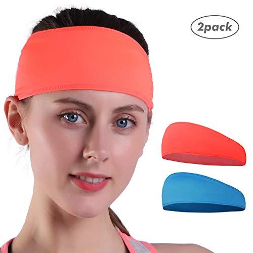 Empirelion Sport Sweatband Hoofdband (2 Pack), Koeling Mannen Hardlopen Hoofdbanden Stijlvolle Vrouwen Workout Haarband
