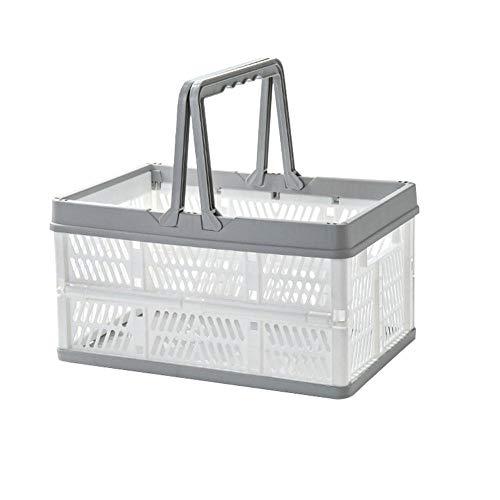 ZDK Plastic Shopping Basket Gran Capacidad de Almacenamiento de Fruta de Alimentos con