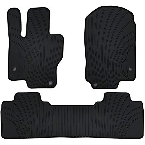 San Auto Car Floor Mats for Mercedes-Benz GLE 350 450 580 5-seat 2020 2021 Custom Fit Rubber Full Black Auto Floor Liners Set All Weather Protection Heavy Duty Odorless