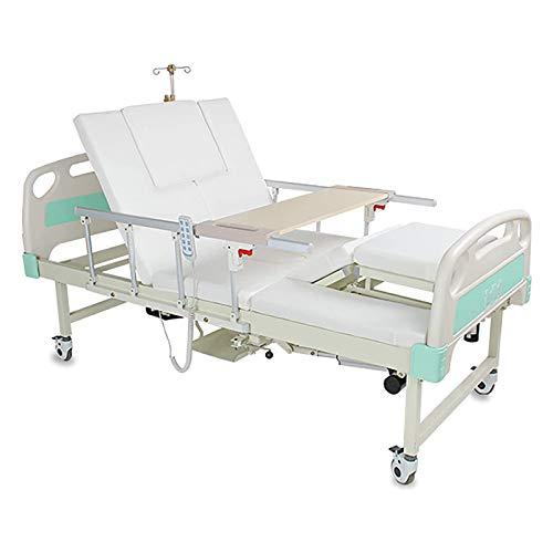 Atrás Ajustable Cama de Hospital eléctrico para Casas eléctricas, Hospital eléctrico Cama de ICU con colchón de Espuma de Alta Densidad incluida