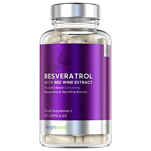 Resveratrol Supplement met rode wijnextract - 250mg Vegan Capsules van rode druiven extract - 60 Capsules
