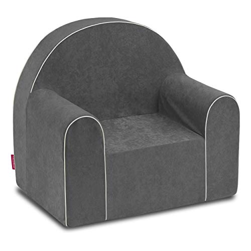 Midi Kindersessel Kinder Babysessel Baby Sessel Sofa Kinderstuhl Stuhl Schaumstoff Umweltfreundlich (Grau)