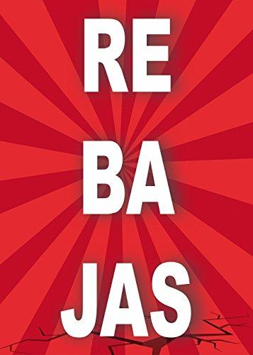 Cartel Rebajas   Varias Medidas 50 cm x 70 cm   Cartel publicitario Rebajas   Carte Oferta Rebajas   Cartel Oportunidad Rebajas