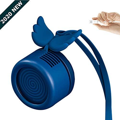 HIGHKAS Ventilador sin Hojas Recargable Mini USB, Ventilador portátil de Mano, Ventilador de Verano para Decoraciones de Mujer