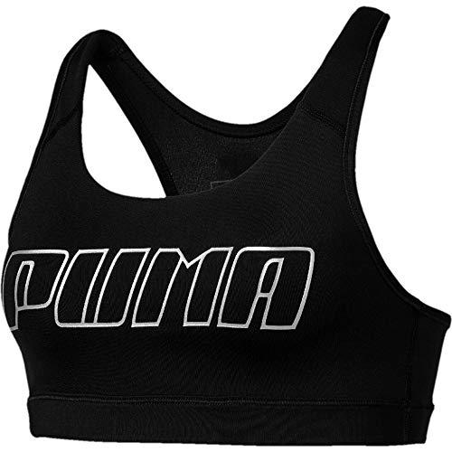 PUMA 4Keeps Sport-BH Damen schwarz/Silber, M