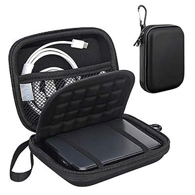 Lacdo Shockproof Hard Drive Case for Western Digital My Passport Studio Ultra Slim Essential WD Elements SE Portable External Hard Drive 1TB 2TB 3TB 4TB 5TB USB 3.0 2.5 inch HDD Travel Bag