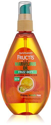 Garnier Skin and Hair Care Fructis Marvelous Oil Frizz Defy 5-Action Hair Elixir for Unruly Hair, 5 Fluid Ounce