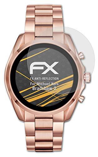 atFoliX Panzerfolie kompatibel mit Michael Kors Bradshaw 2 Schutzfolie, entspiegelnde & stoßdämpfende FX Folie (3X)